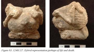 Figurine der Großen Mutter, Vorderseite, 6.51 x 7.37 x 6.44cm; 221g